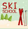 ski school education training mentoring logo vector image