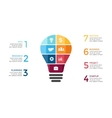 light bulb infographic Template for circle vector image