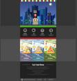 flat style pizzeria cafe design web site design vector image
