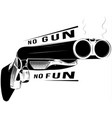 black and white shotgun vector image