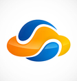 cloud media abstract color logo vector image