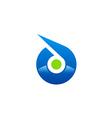 abstract circle technology spot logo vector image