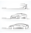 Set of luxury car silhouettes vector image
