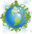 abstract green civilization vector image vector image