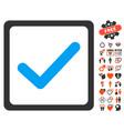 Checkbox icon with love bonus vector image