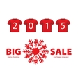 Christmas Big Sale red icon with Snowflake symbol vector image