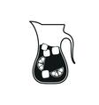 Cold lemonade icon Simple black style vector image