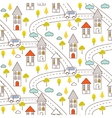 Outline countryside seamless pattern vector image