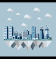 Pollution city concept in flat style design vector image