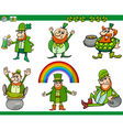 saint patrick day cartoon set vector image
