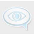speech bubble eye vector image
