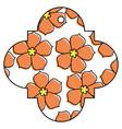 tag chinese flower sakura decoration icon vector image