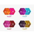 Set of abstract geometric hexagon design with vector image vector image