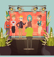 fashion show interview composition vector image