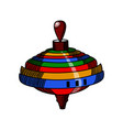 color sketch of a whirligig vector image vector image