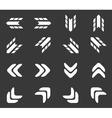 Arrow icon set 2 monochrome vector image