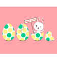 Greeting card with Easter rabbit vector image