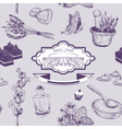 Hand Drawn Seamless Pattern with Lavenders vector image