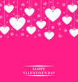 hearts card hang pink vector image