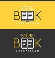 modern line logo of the bookstore vector image