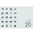 Set of spamming icons vector image