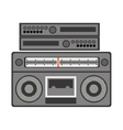 silhouette gray scale with stero sound amplifier vector image