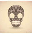Skull in retro vector image