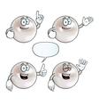 Smiling pearl set vector image