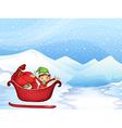 Boy in a sleigh vector image vector image