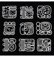 Maya glyphs writing system and language de vector image