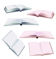 set of open books vector image vector image
