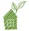 A green house with leaves vector image
