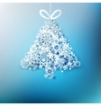 Christmas tree made from paper snowflakes EPS 10 vector image