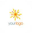 star bright shine logo vector image