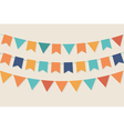 Party flags in pastel palette vector image