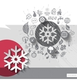 Hand drawn snowflake icons with icons background vector image vector image