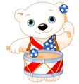 4th of July Polar Bear vector image vector image