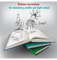books and graphic elements vector image