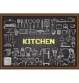Hand drawn kitchen equipments vector image