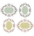 Set of simple vintage frames vector image