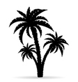 palm tree silhouette 06 vector image