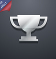 Trophy Cup icon symbol 3D style Trendy modern vector image