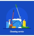 Cleaning service company concept vector image