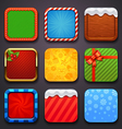 background for the app icons-christmas set vector image