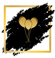 balloons set sign golden icon at black vector image