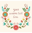 Beautiful floral wreath card vector image