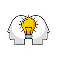 bulb heads vector image