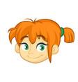 cartoon small blond girl vector image