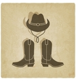 cowboy old background vector image
