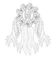 Hand drawn zentangle Dreamcatcher with Love vector image